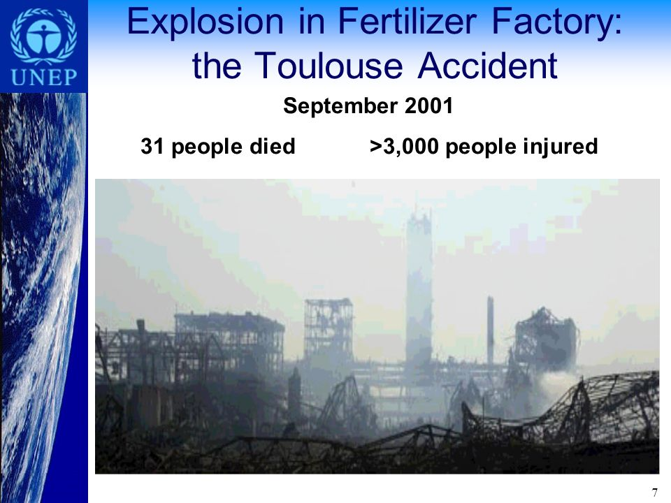 Offsite impacts of industrial accidents Industrial accidents affect the public as well as workers Industrial accidents can have severe impacts n community health and livelihoods.