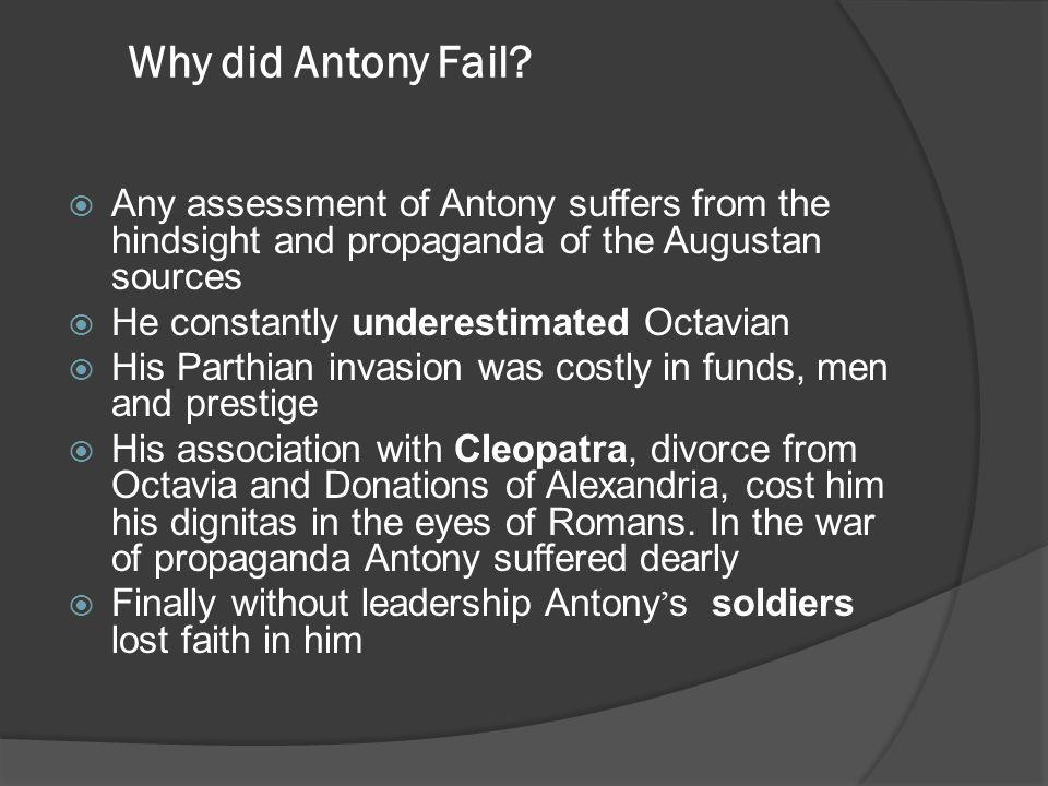 Why did Antony Fail.