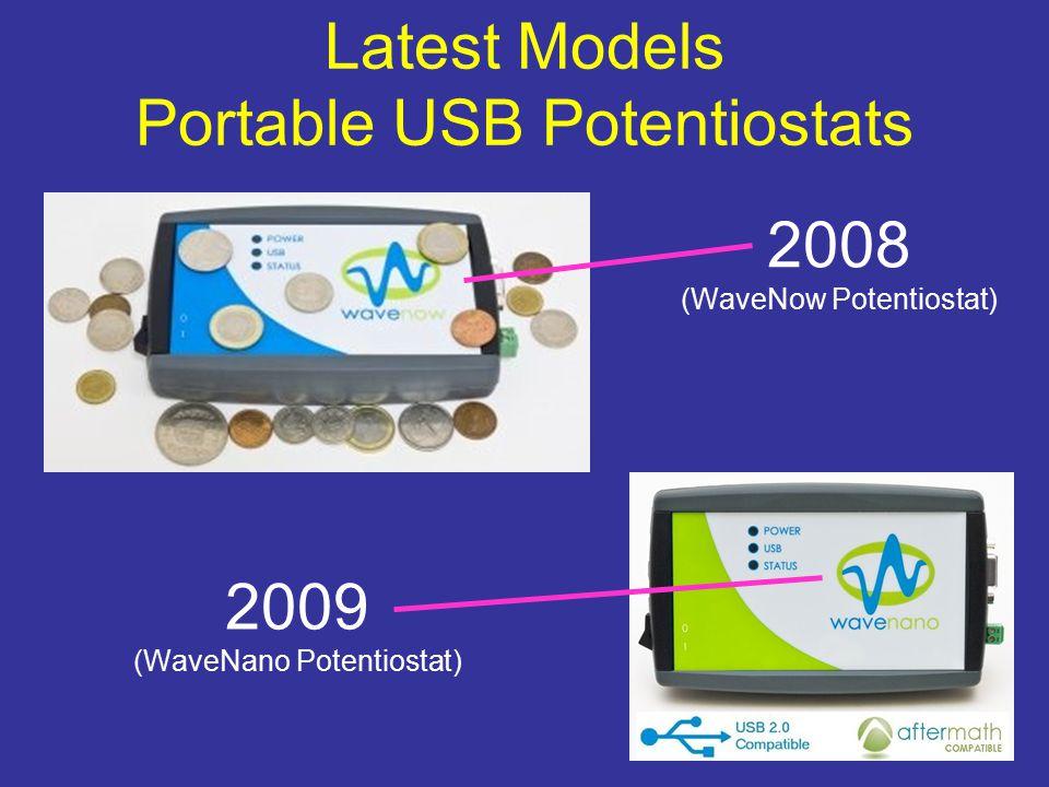 Latest Models Portable USB Potentiostats 2008 (WaveNow Potentiostat) 2009 (WaveNano Potentiostat)
