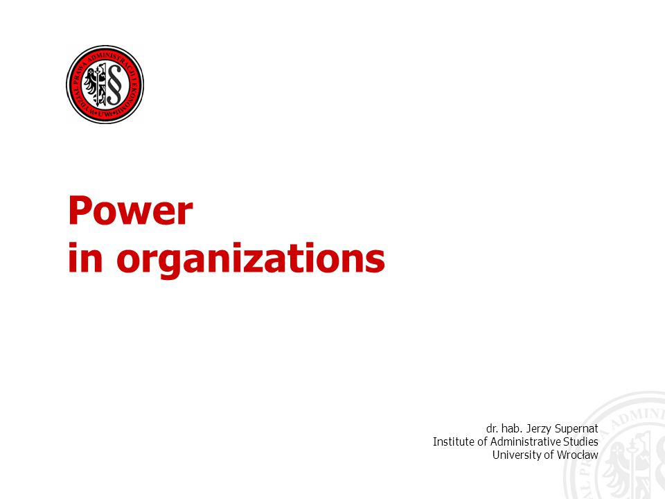 Organizations can be defined as systems of power:  an interconnected series of order-givers and order-followers  tools by which those people with power can use other people to achieve particular goals Power in organizations
