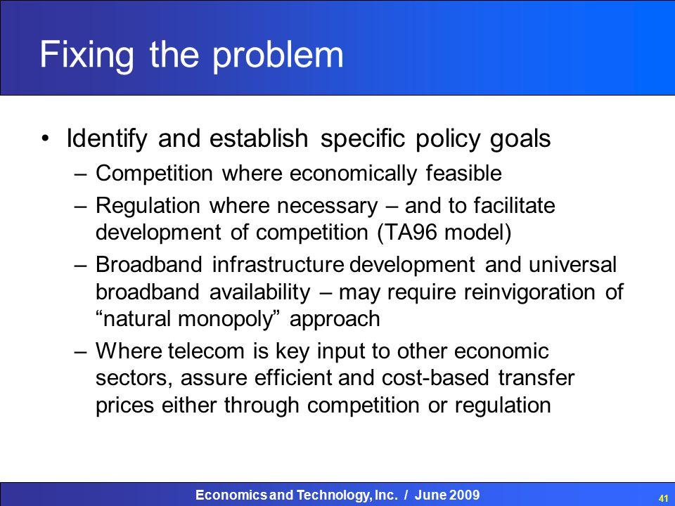 Economics and Technology, Inc.