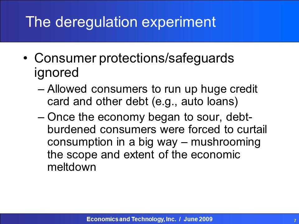 Economics and Technology, Inc. / June 2009 18