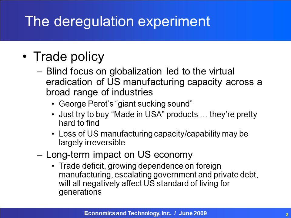 Economics and Technology, Inc. / June 2009 29 LEVEL OF REGULATION