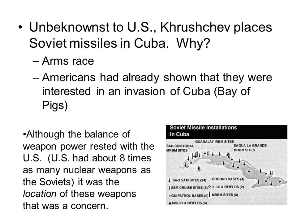 Aftermath Partly over his dealing with the crisis, Khrushchev is soon replaced by Brezhnev U.S.