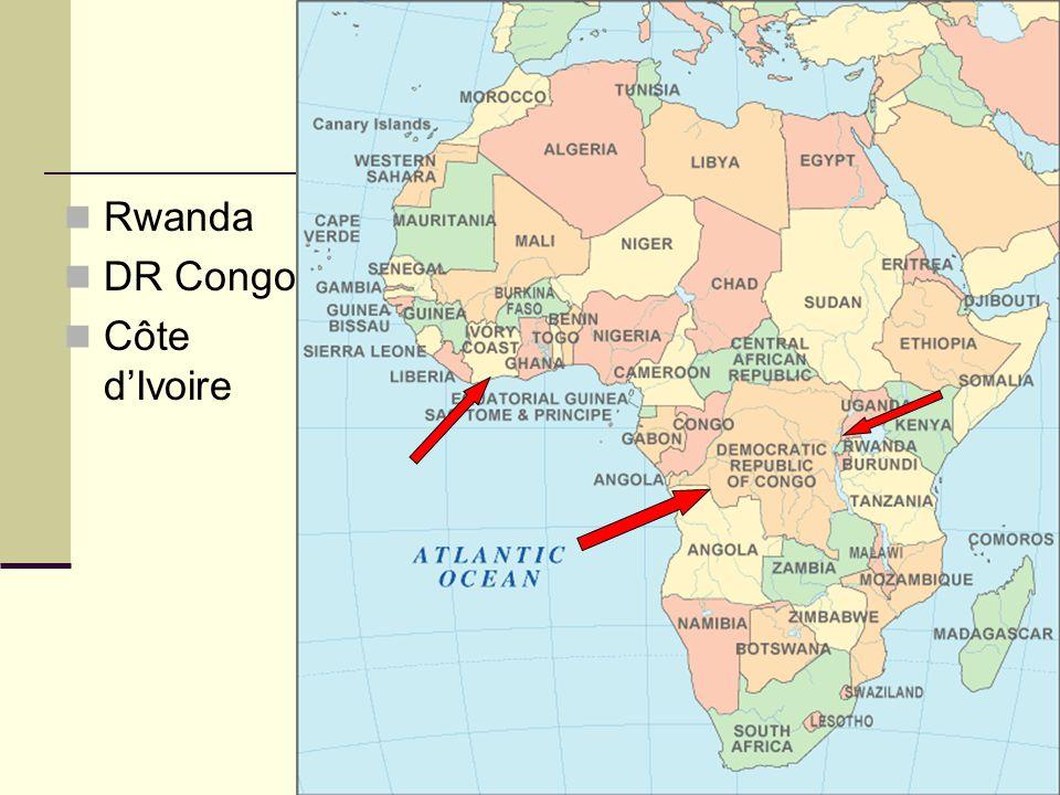 Rwanda DR Congo Côte d'Ivoire