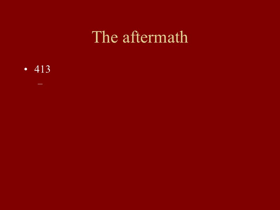 The aftermath 413 –