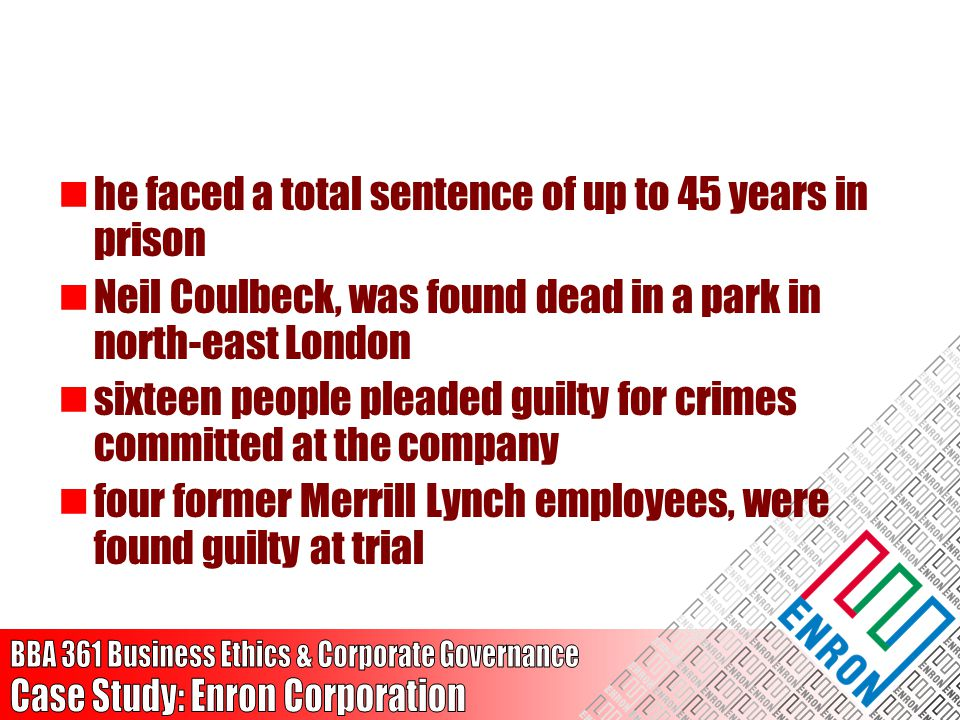 he faced a total sentence of up to 45 years in prison Neil Coulbeck, was found dead in a park in north-east London sixteen people pleaded guilty for c