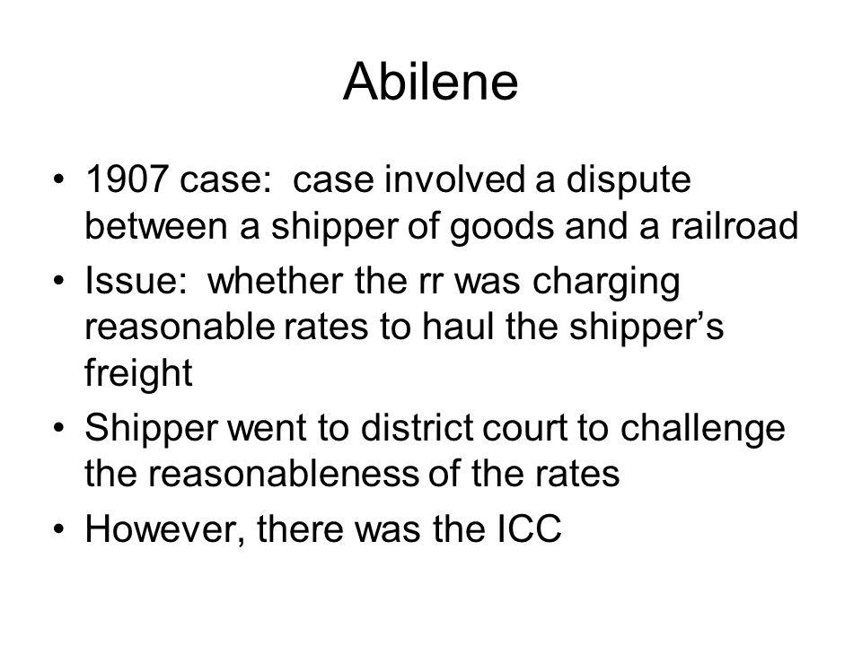 Abilene ICC had: Guess what.