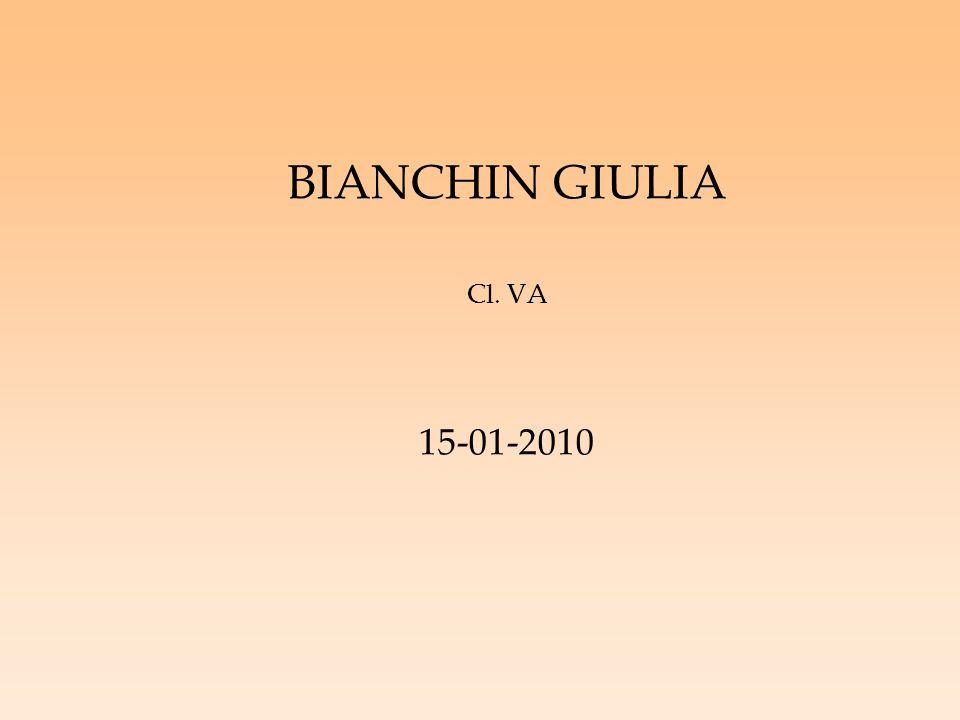 BIANCHIN GIULIA Cl. VA 15-01-2010