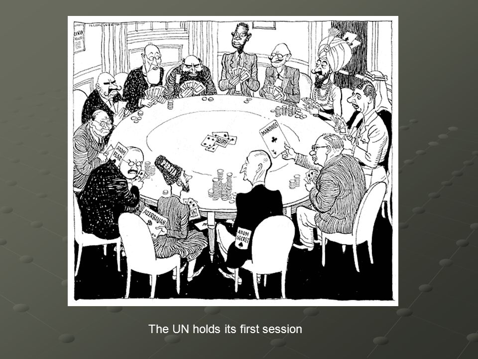 The UN holds its first session
