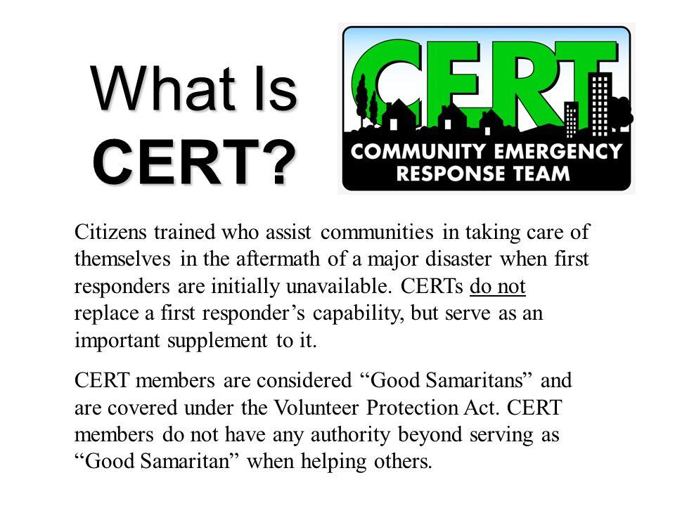 Community Emergency Response Team Community Emergency Response Team (Your name) For the Your Picture