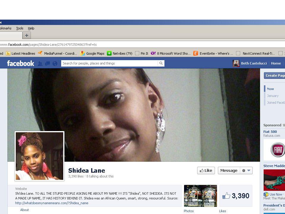 FB 'Shi'Dea Lane' page