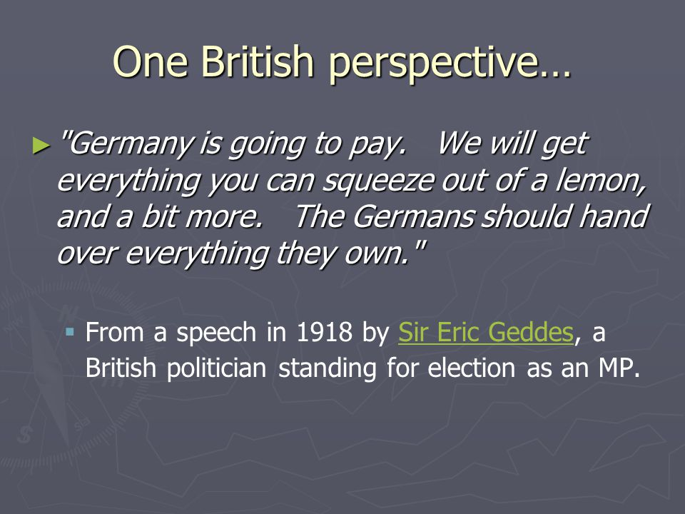 One British perspective… ► Germany is going to pay.