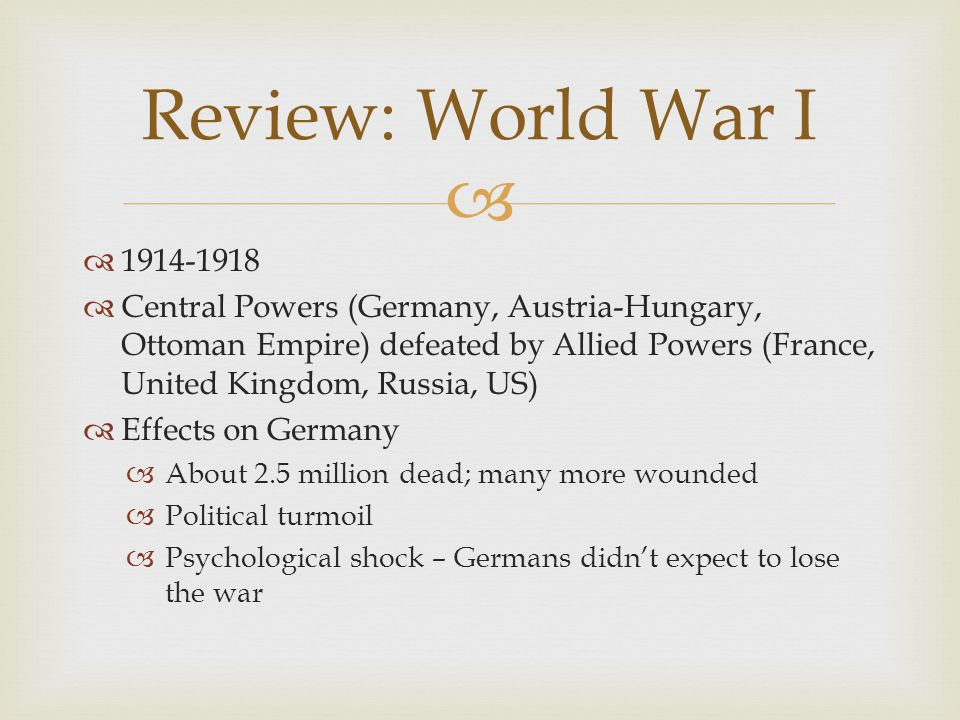   By 1917, tide was turning against Germany  Protests and political changes  Workers launched walkouts and strikes  Leftist political parties began to oppose the war  Mutinies in the armed forces  Challenges to monarchy and Kaiser Wilhelm II Dissent in Germany