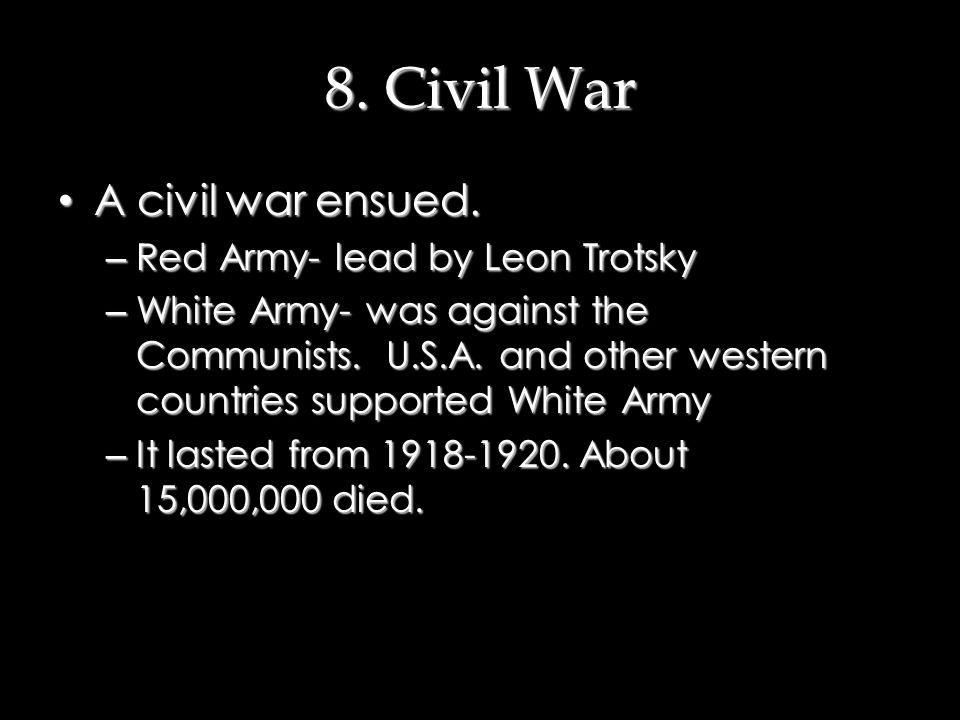 7. Lenin Restores Order What did Lenin do. What did Lenin do.