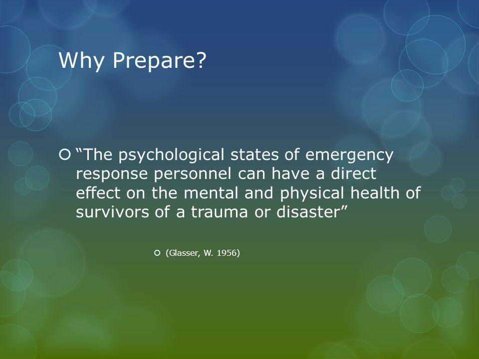 Why Prepare.