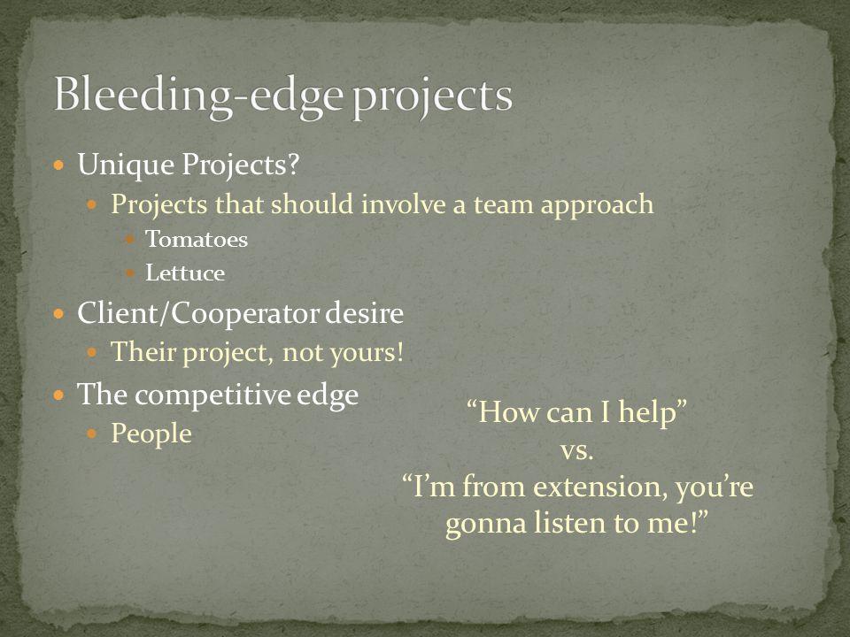 Unique Projects.