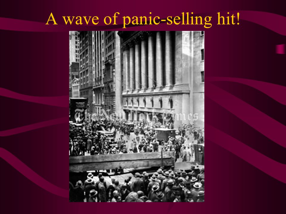 A wave of panic-selling hit!