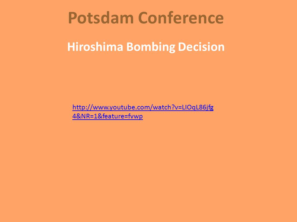 Results of Potsdam Immediate Allied control of Germany Demarcation of the boundaries of Poland Dismantling of Germany's military German reparations Prosecution of war criminals AND Truman's Decision