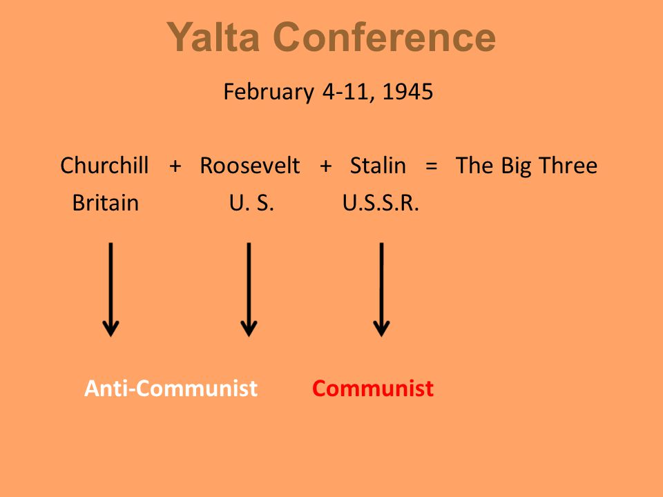 Yalta Conference Considering the Soviet Union was being asked by the United Kingdom and United States to help in the possible invasion of Japan, make a prediction about the relationship between Britain, U.S.