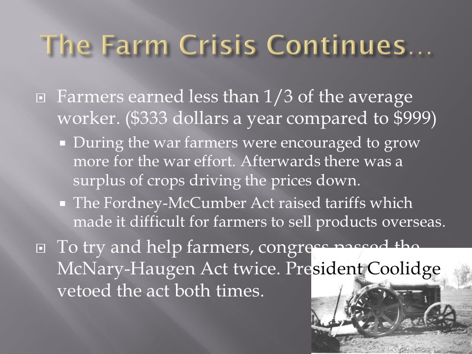  Farmers earned less than 1/3 of the average worker.
