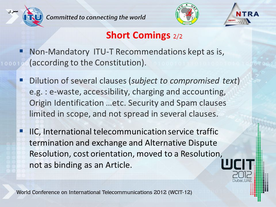  Non-Mandatory ITU-T Recommendations kept as is, (according to the Constitution).