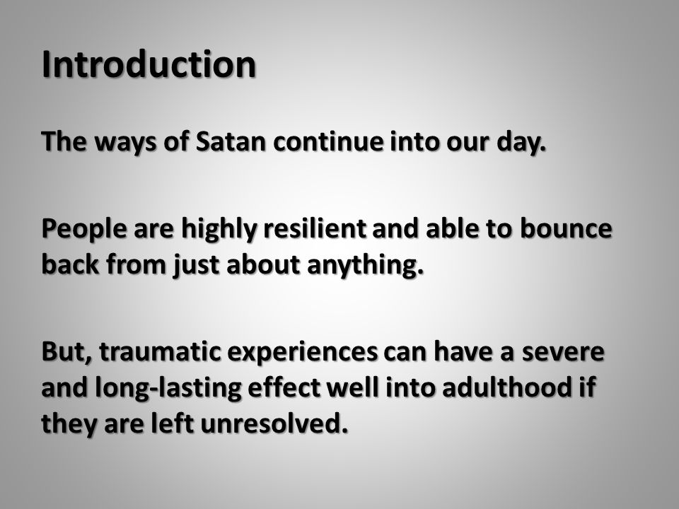 Seven Ways To Cope With Trauma Take care of your health (Romans 12:1,2).