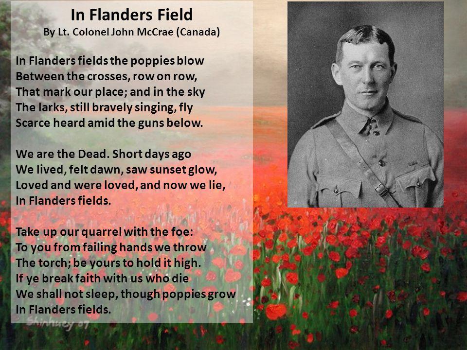 In Flanders Field By Lt.