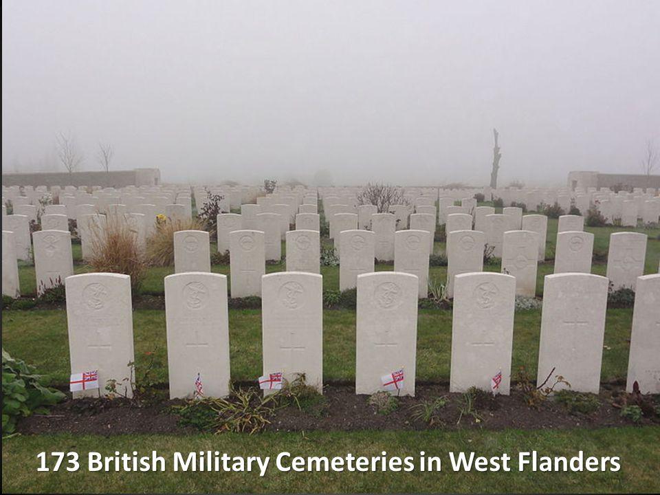 173 British Military Cemeteries in West Flanders