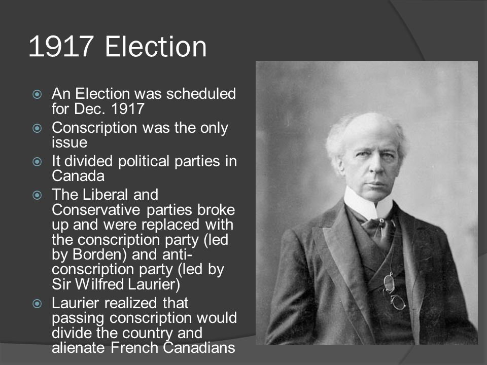 1917 Election  An Election was scheduled for Dec.