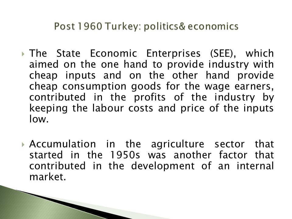  The State Economic Enterprises (SEE), which aimed on the one hand to provide industry with cheap inputs and on the other hand provide cheap consumpt