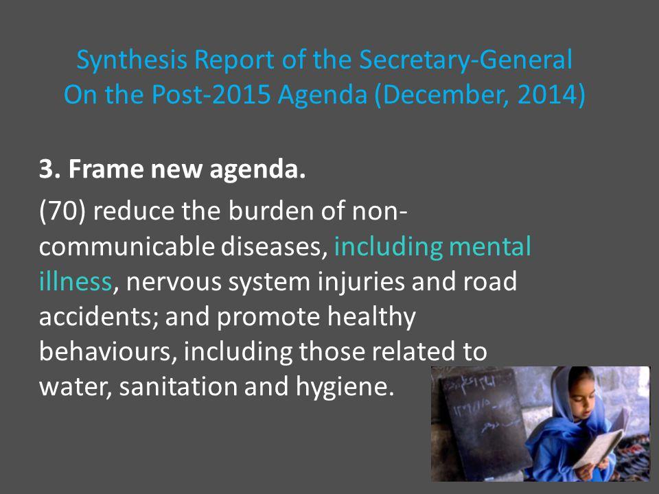3. Frame new agenda.