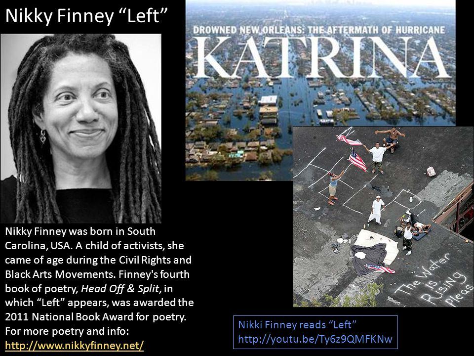 Nikky Finney was born in South Carolina, USA.