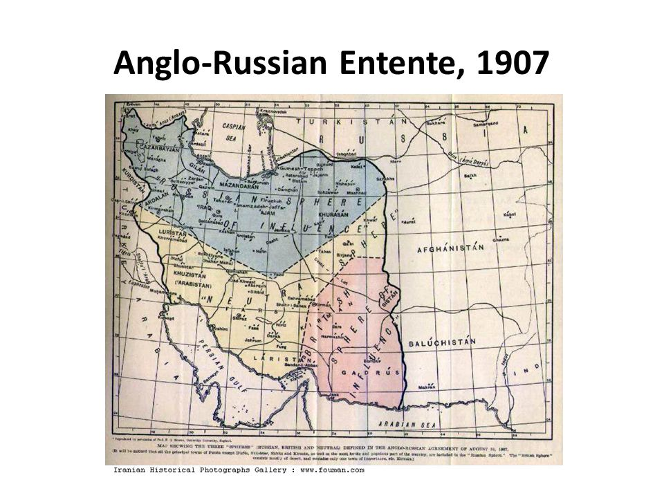Anglo-Russian Entente, 1907