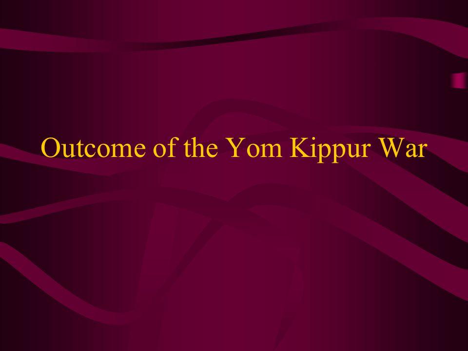 Outcome of the Yom Kippur War