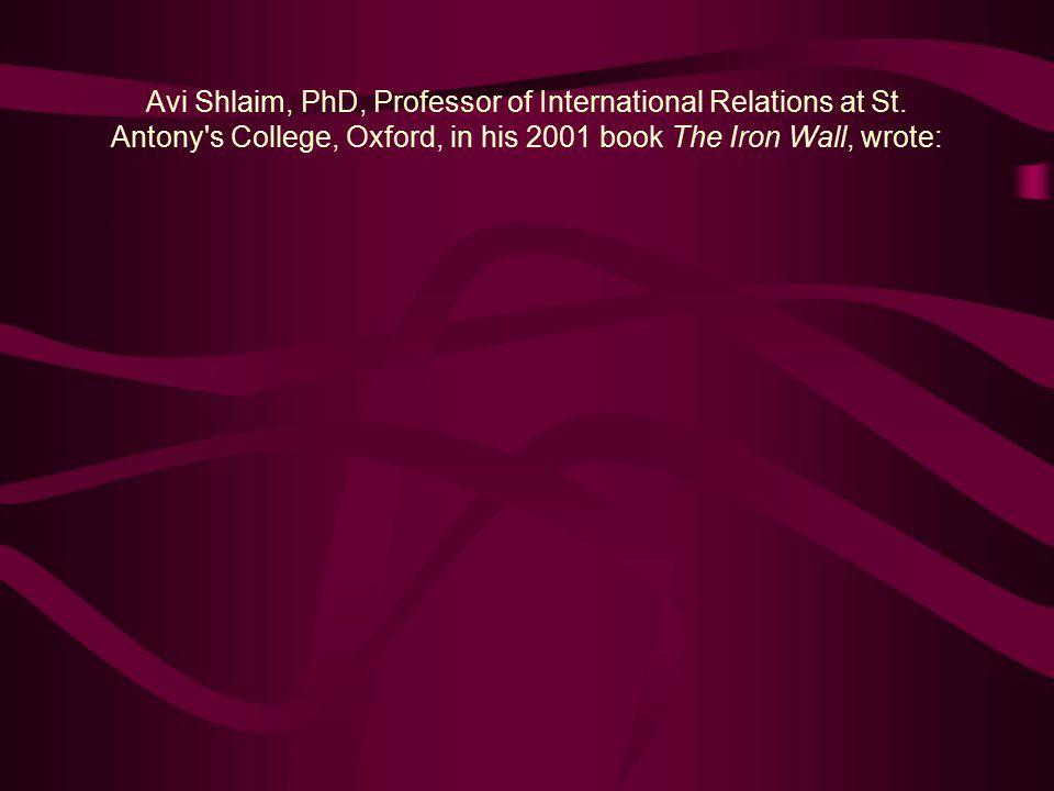 Avi Shlaim, PhD, Professor of International Relations at St.