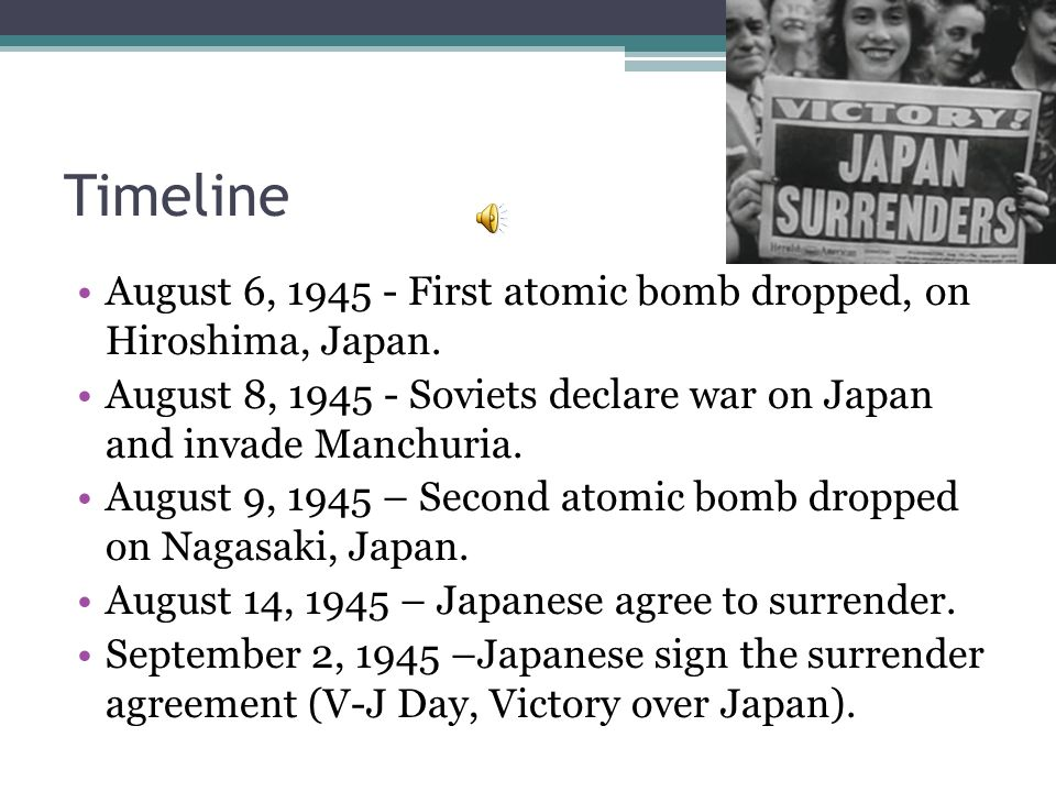 Summary This World War II documentary explains the history and planning of the US dropping the first atomic bomb on Hiroshima.