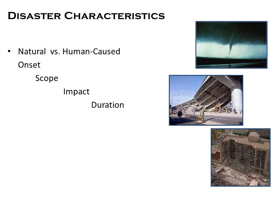 Response Characteristics (Adapted from Zunin/Meyers)
