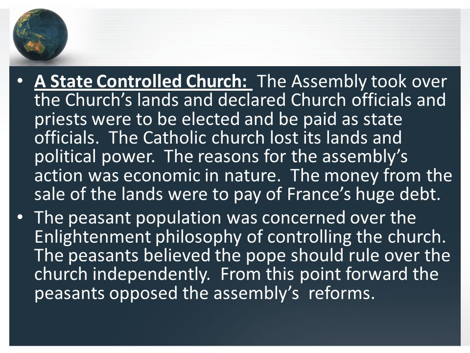 Louis Tries to Escape: The National Assembly worked on restructuring the church and state.