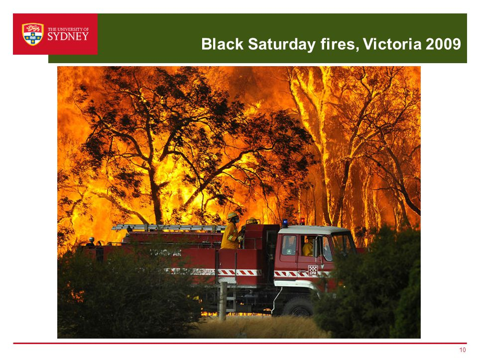 Black Saturday fires, Victoria 2009 10