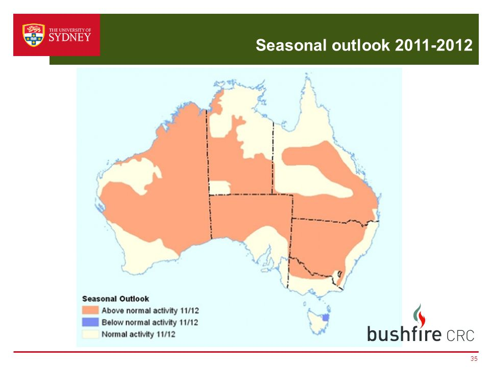 Seasonal outlook 2011-2012 35