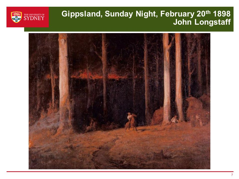 Gippsland, Sunday Night, February 20 th 1898 John Longstaff 7