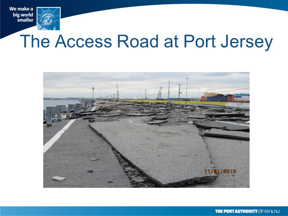 The Access Road at Port Jersey