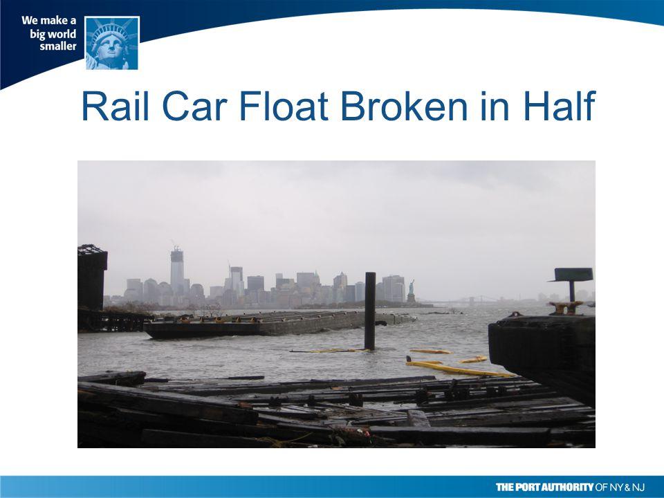Rail Car Float Broken in Half