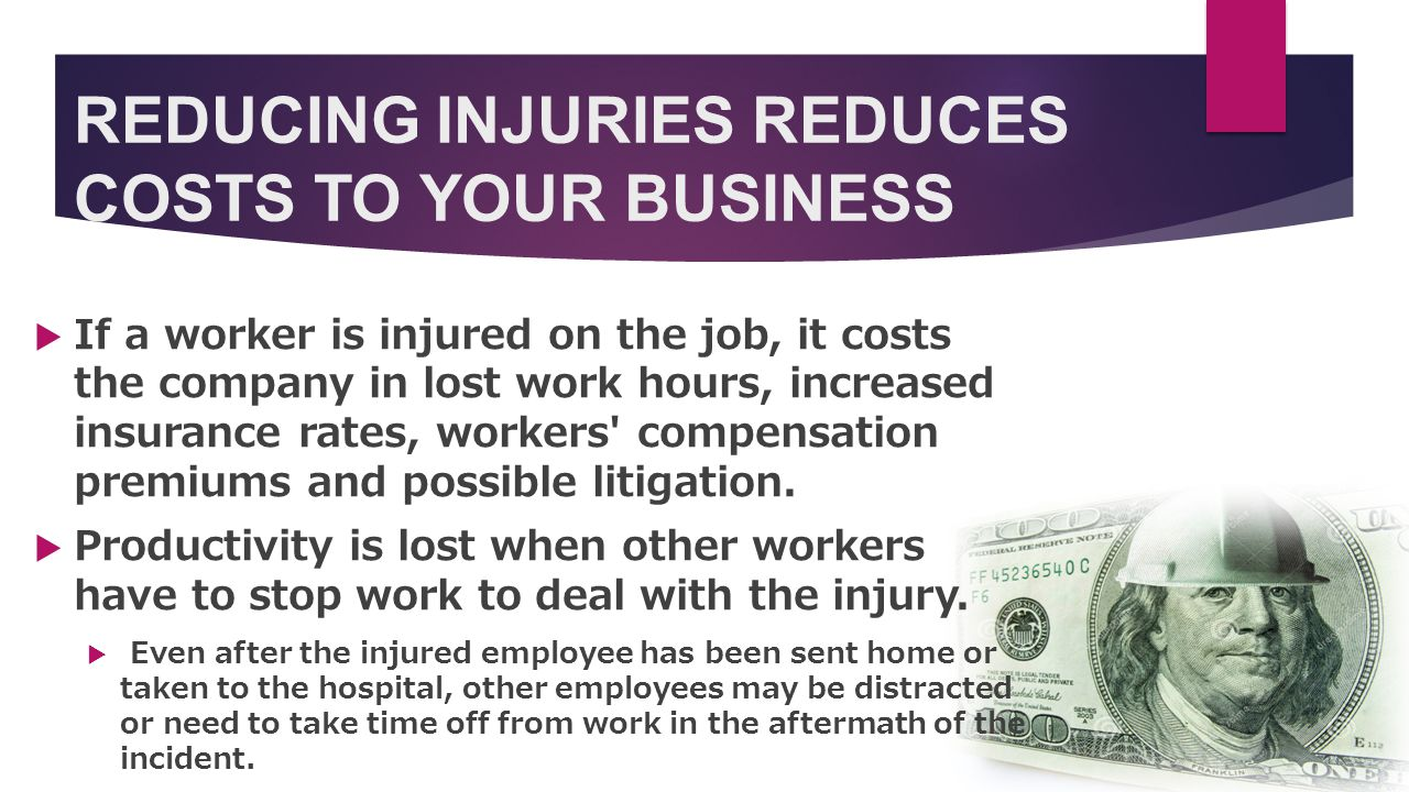 Reason to Focus on Safety  Safety is the key to keeping a work place moving forward both in moral and physical points.
