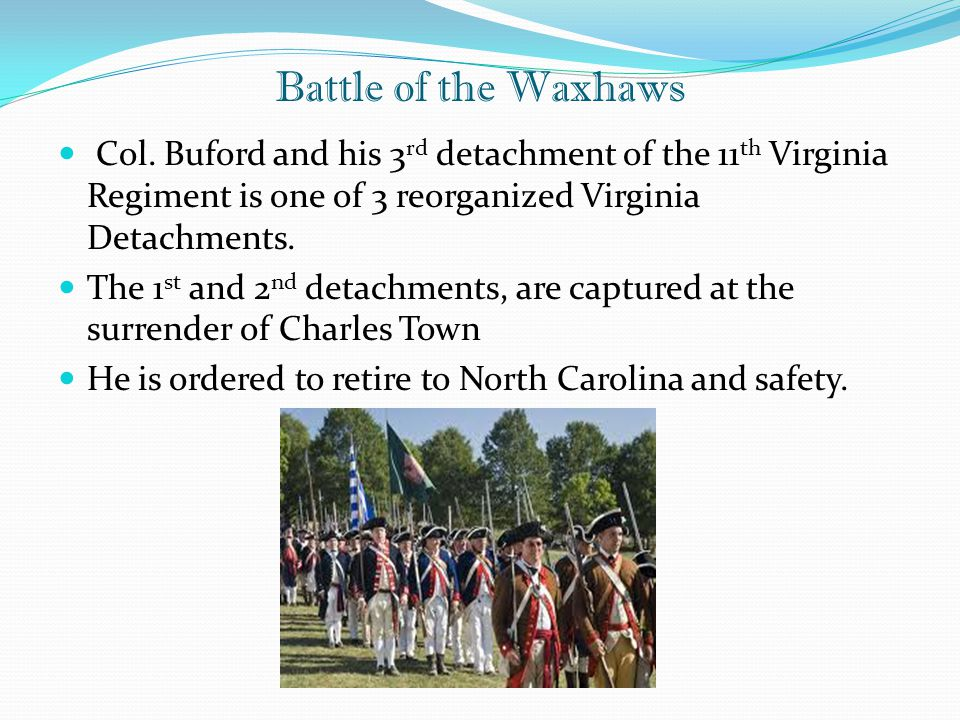 Battle of the Waxhaws Col.