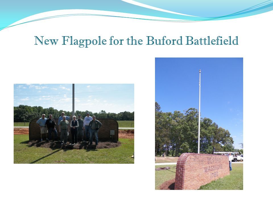New Flagpole for the Buford Battlefield