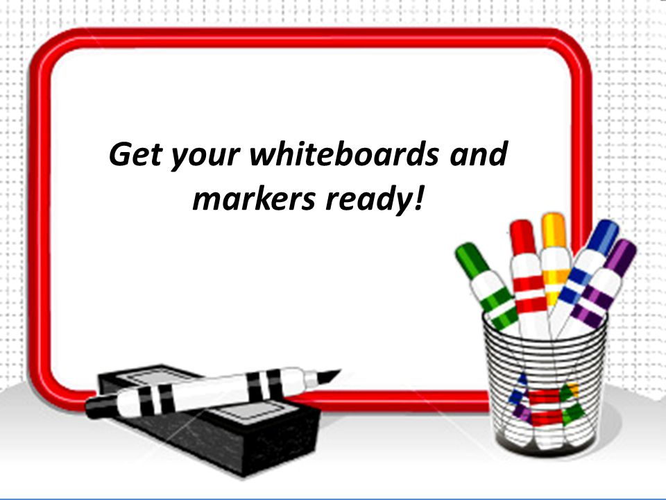 Get your whiteboards and markers ready!