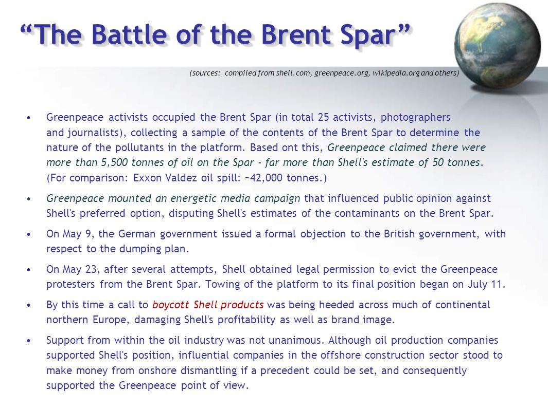 """The Battle of the Brent Spar"" Greenpeace activists occupied the Brent Spar (in total 25 activists, photographers and journalists), collecting a sampl"