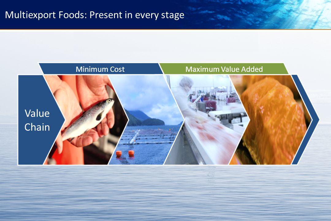 24 Multiexport Foods: Present in every stage Maximum Value Added Minimum Cost Value Chain